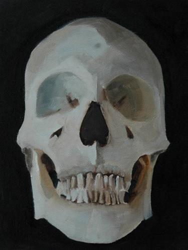 """""""SKULL No. 1"""" original fine art by Linda Popple"""