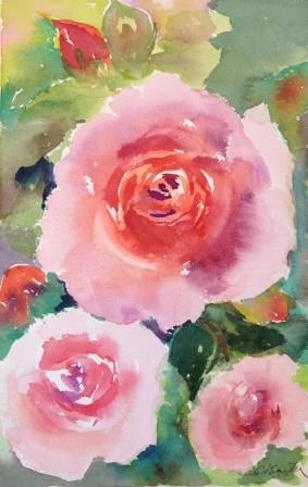 """Love of Roses-3"" original fine art by Lisa Fu"