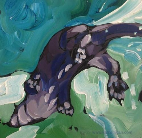 """""""Schwoopity!"""" original fine art by Kat Corrigan"""