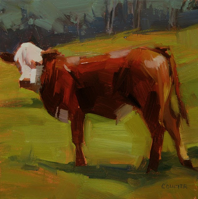"""Vail Calf"" original fine art by James Coulter"