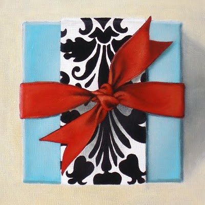 """Study - Gift Box IV"" original fine art by Jelaine Faunce"
