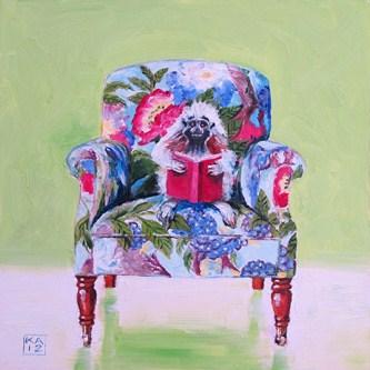 """monkey shines IV"" original fine art by Kimberly Applegate"