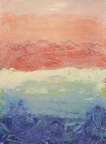 """Mexico Sunset"" original fine art by Mechele Flowers"