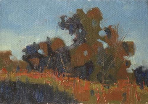 """Bill Fletcher Workshop Day 3,  4x6 oil"" original fine art by Claudia Hammer"
