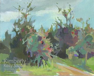 """Orchard I"" original fine art by Kimberly Santini"