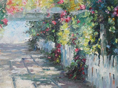 Garden original fine art by Kelvin Lei