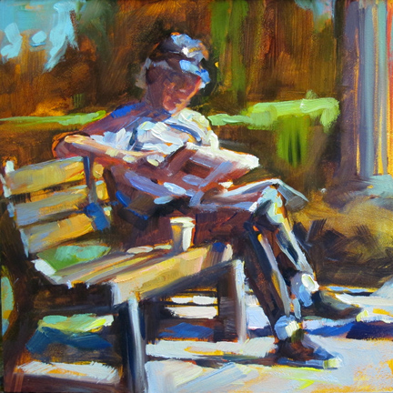 """Seated Figure"" original fine art by Karen Bruson"