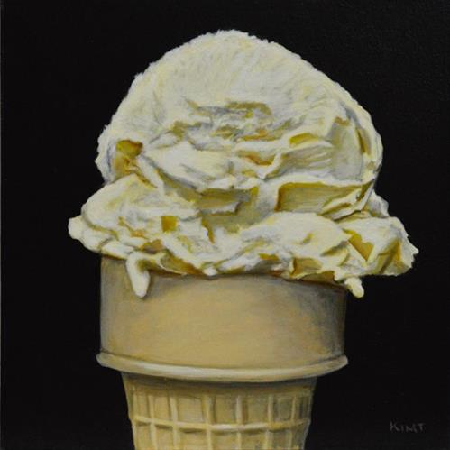 """One Scoop"" original fine art by Kim Testone"