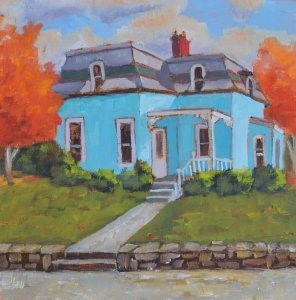 """Chestnut Street Colors"" original fine art by Robert Frankis"