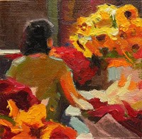 """Beauty, Home, Freedom, Peace  miniature oil paintings by Robin Weiss"" original fine art by Robin Weiss"