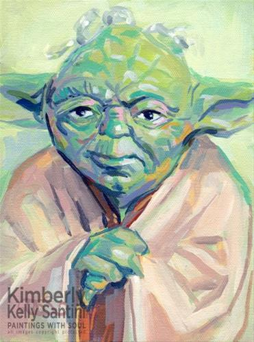 """Yoda"" original fine art by Kimberly Santini"