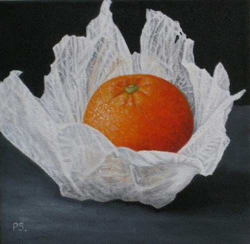 """Orange II"" original fine art by Pera Schillings"