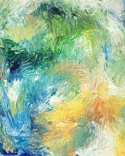 """Sea Glass"" original fine art by Nava Judith"