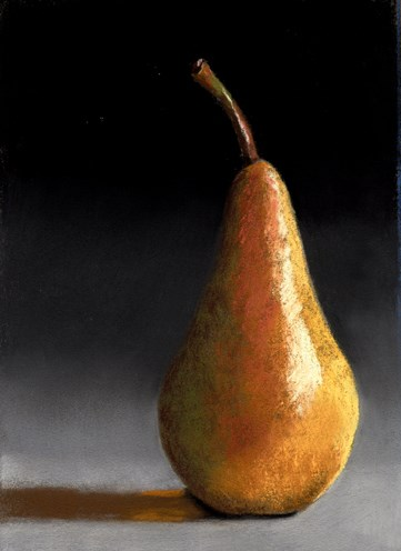 """Another Simple Pear pastel painting"" original fine art by Ria Hills"