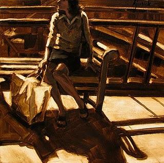 """Shop Girl"" original fine art by Karin Jurick"