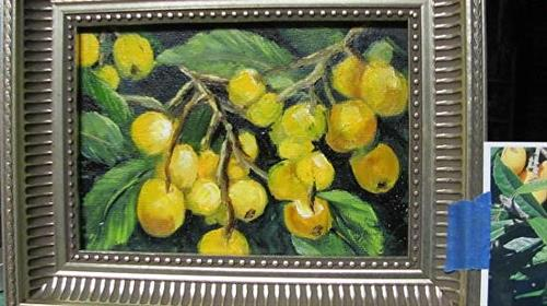 """LoQuats  Fruit"" original fine art by Barbara Haviland"