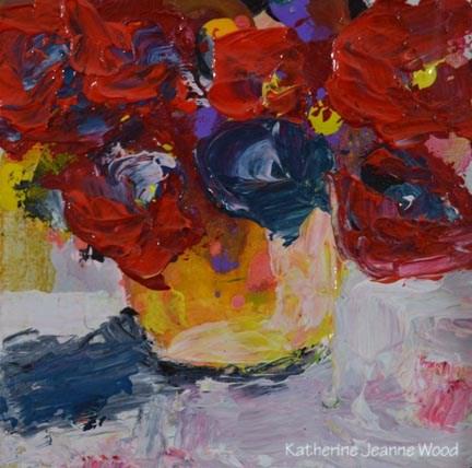 """Floral Series No 62"" original fine art by Katie Jeanne Wood"