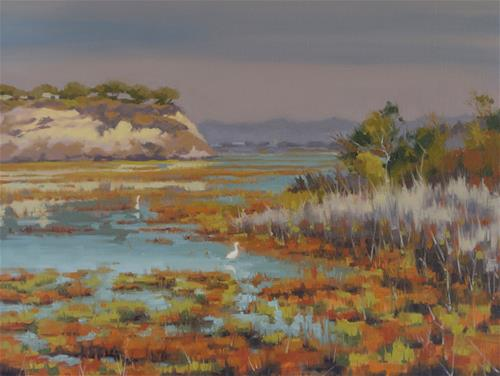 """Fall in the Back Bay"" original fine art by John White"