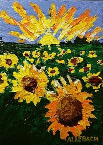 """Sunshine Flowers"" original fine art by Jo Allebach"