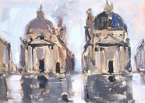 """Piazza del Popolo"" original fine art by Kevin Inman"