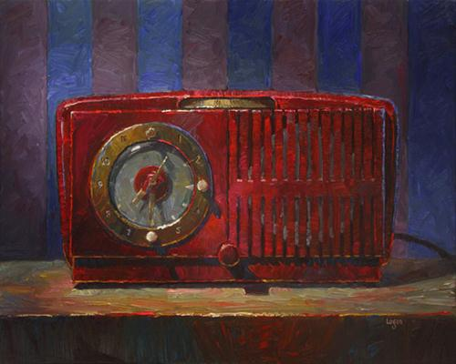 """Jeff's Clock Radio (GE)"" original fine art by Raymond Logan"