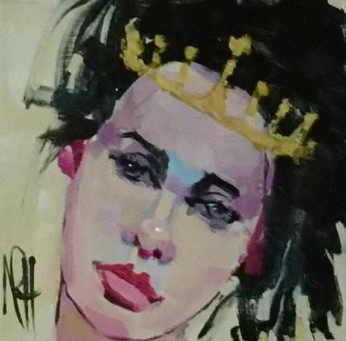 """Wistful Queen"" original fine art by Nancy  Rhodes Harper"