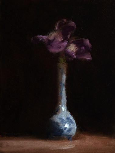 """Iris in Bud Vase"" original fine art by Neil Carroll"