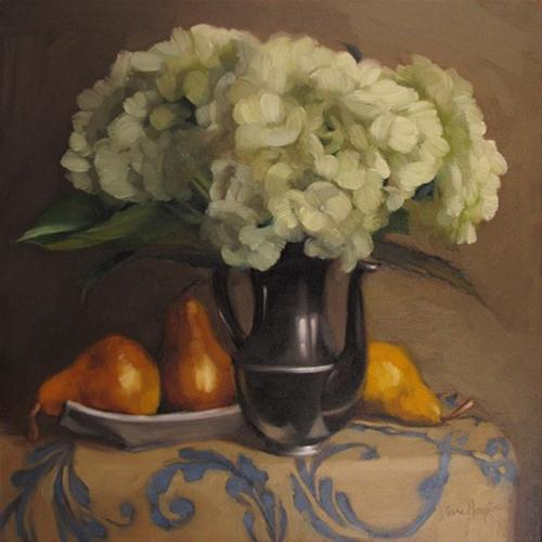 """Tuesday Hydrangeas for Galerie Kornye West"" original fine art by Diane Hoeptner"