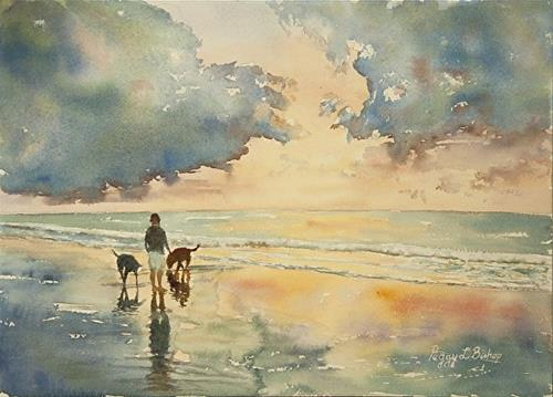 """Sullivan's Island Sunrise"" original fine art by Peggy Bishop"