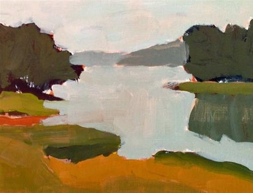 """Marsh at Tidewater Farm"" original fine art by Bobbi Heath"