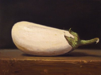 """White Eggplant"" original fine art by Abbey Ryan"