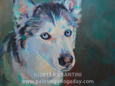 """Mya, A Lesson Painting, Part II of II"" original fine art by Kimberly Santini"