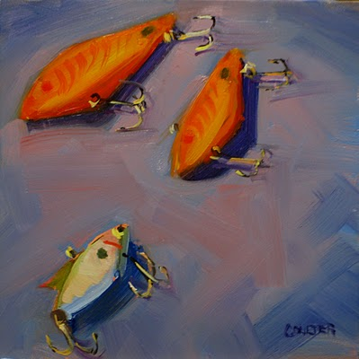 """ALIEN LURES"" original fine art by James Coulter"