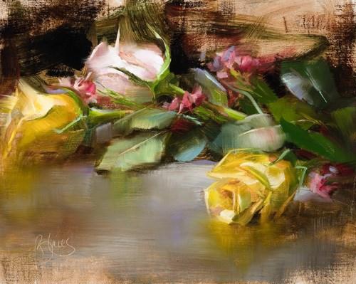 """Cut Roses"" original fine art by Pamela Blaies"