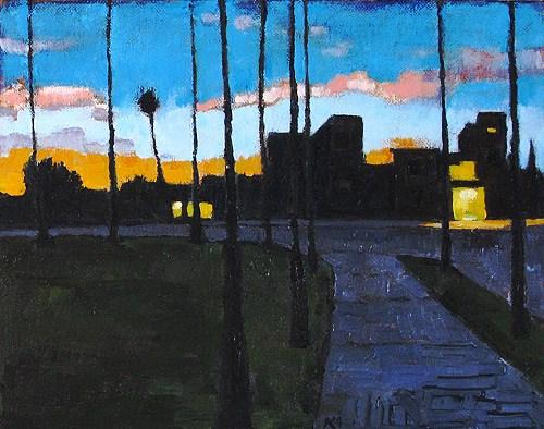 """U-Heights Nocturne"" original fine art by Kevin Inman"
