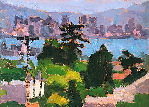 """San Diego Skyline from Point Loma"" original fine art by Kevin Inman"