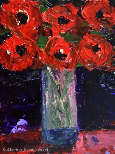"""Floral Series No 35"" original fine art by Katie Jeanne Wood"