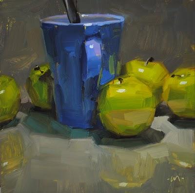 """""""Blue is Base"""" original fine art by Carol Marine"""