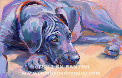 """Sigh, A Gratitude Painting"" original fine art by Kimberly Santini"