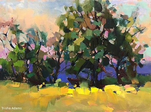 """Buttercup Field"" original fine art by Trisha Adams"