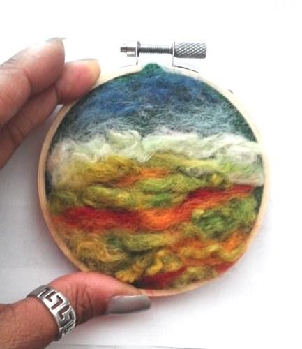 """Fall Needle Felting"" original fine art by Camille Morgan"