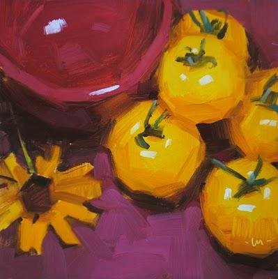 """Free Lovin' Tomatoes"" original fine art by Carol Marine"