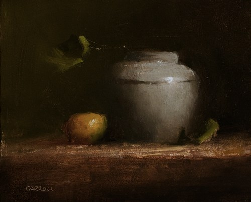 """Arrangement with Leaves"" original fine art by Neil Carroll"
