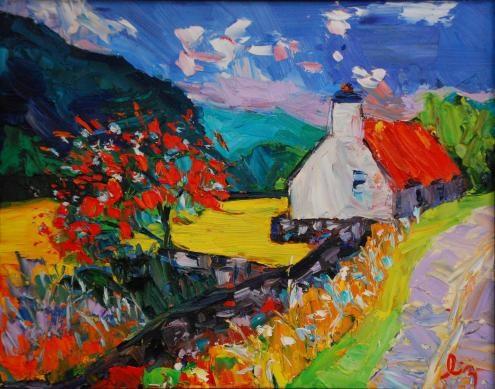 """Scottish Farmhouse Abandoned"" original fine art by Liz Zornes"