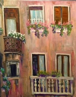 """Balcony Challenge"" original fine art by Maggie Flatley"