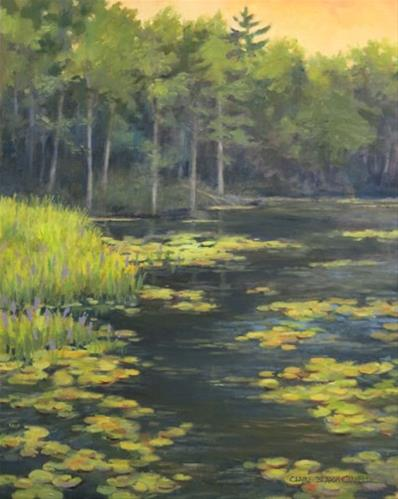 """'Evening Light on the Serpentine' An Original Oil Painting by Claire Beadon Carnell"" original fine art by Claire Beadon Carnell"