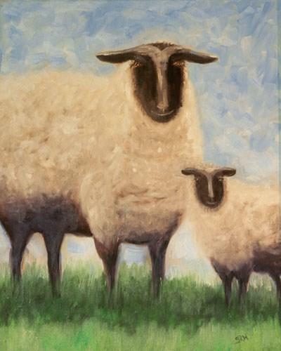 """Sheep"" original fine art by Sunny Williams"