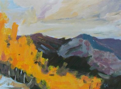 """Golden Aspens"" original fine art by Pamela Munger"
