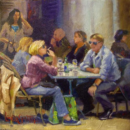 Gathering Place original fine art by Linda K Smith