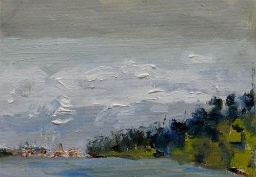 """Anacortes from Ferry Landing"" original fine art by Susan Hammer"